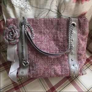 Brighton 🌸🌸pink 🌸🌸tweed quilted tote purse